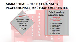 Managerial Recruiting Sales Professionals