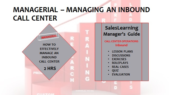 Managerial Managing An Inbound Call Center