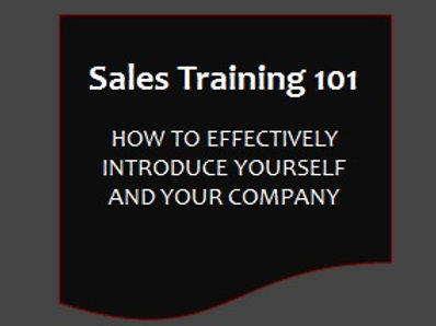 Sales Training 101 - Effective Introductions