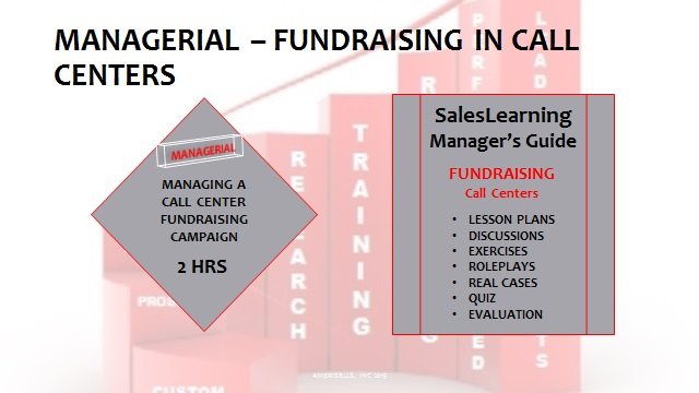 Managerial Fundraising In Call Centers