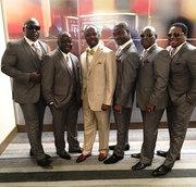 Top 2 Bottom Men's Tuxedo Rental Wedding Package For 6 Grooms