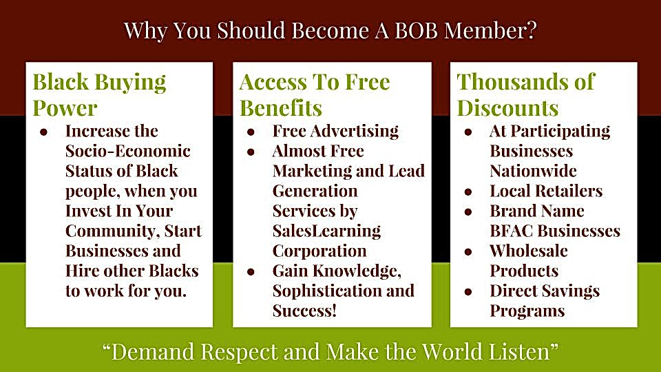 Why You Should Become A BOB Member?