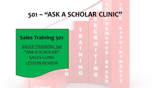 501 Ask A Scholar Clinic