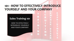 101 How To Effectively Introduce Yourself and Your Company