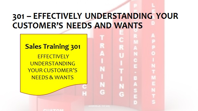301 Effectively Understanding Your Customer's Needs and Wants