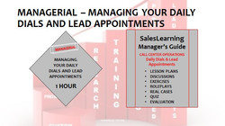 Managerial Managing Your Daily Dials and Lead Appointments