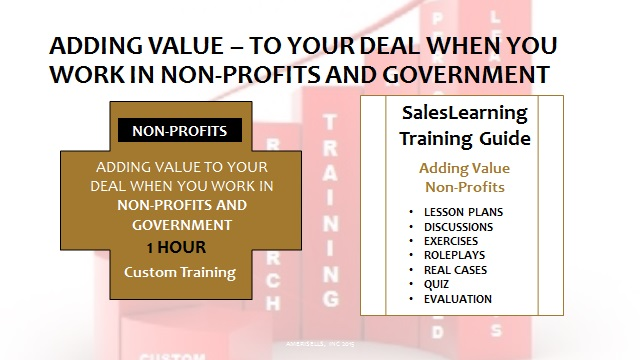 Adding Value Non-Profits and Government
