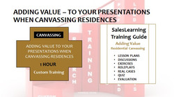 Adding Value Canvassing Residences