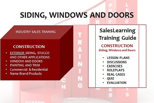 PACKAGE - INDUSTRY TRAINING - Siding-Windows-Doors