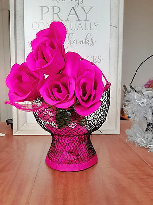 Krafty & Creative Wire Basket Fuschia