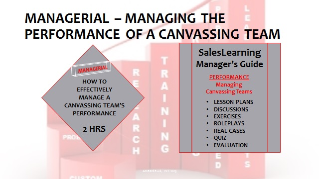 Managerial Managing The Performance of a Canvassing Team