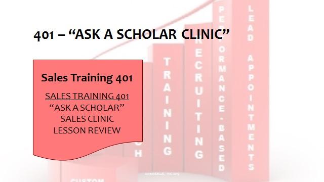 401 Ask A Scholar Clinic