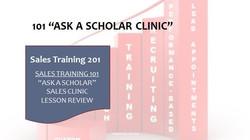 201 Ask A Scholar Clinic