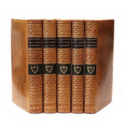 Madame de La Fayette. Madame de Tencin. Oeuvres (1804). 5 vol. Belle reliure