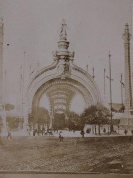1900 Photo ancienne Exposition Universelle Paris Porte Champs Elysées