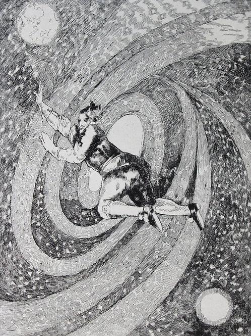 Cyrano de Bergerac et l'Autre Monde, illustré par Maurice de Becque (1944)