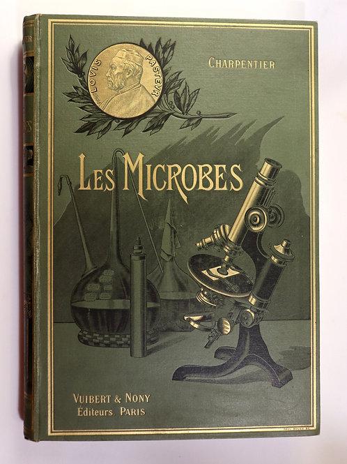 P.-G. Charpentier. Les Microbes (1909). Bel exemplaire en cartonnage historié