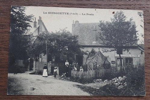 CPA Puy de Dôme La Guinguette La Poste télégraphie Auvergne