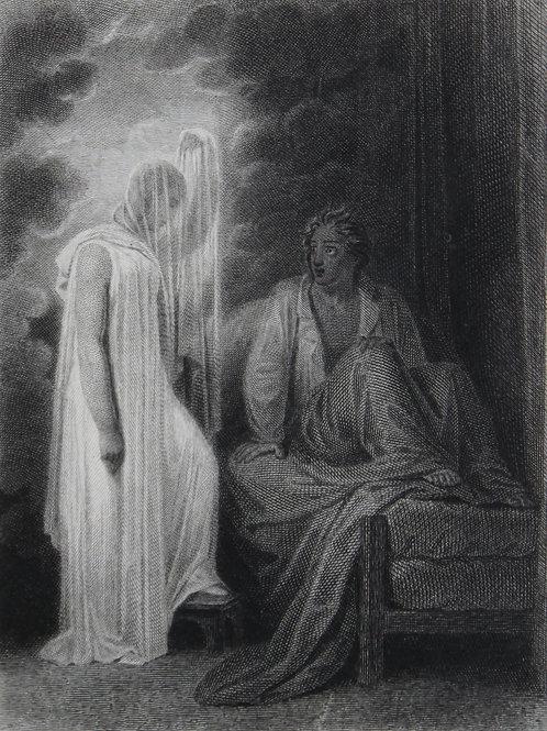 Achille Devéria. Estampe sur acier pour J. J. Rousseau (vers 1827). Spectre