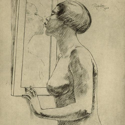 ARMAND RASSENFOSSE 1928 pointe sèche originale 1/100 ex. RARE nu féminin femme