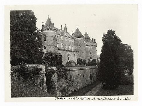Photographie ancienne vers 1910 Chastellux-sur-Cure Yonne Bourgogne Château 2