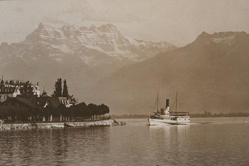 Lac Léman bateau à vapeur CPA comme neuve non voyagée