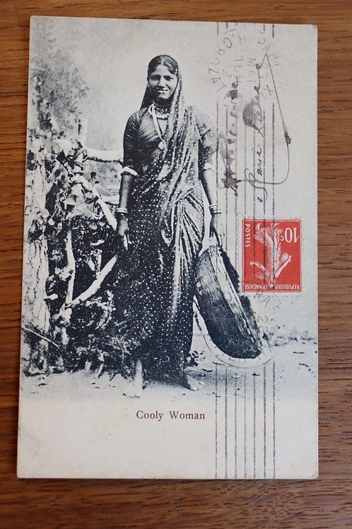 CPA Bombay Inde Cooly woman 1912 Femme Hindou