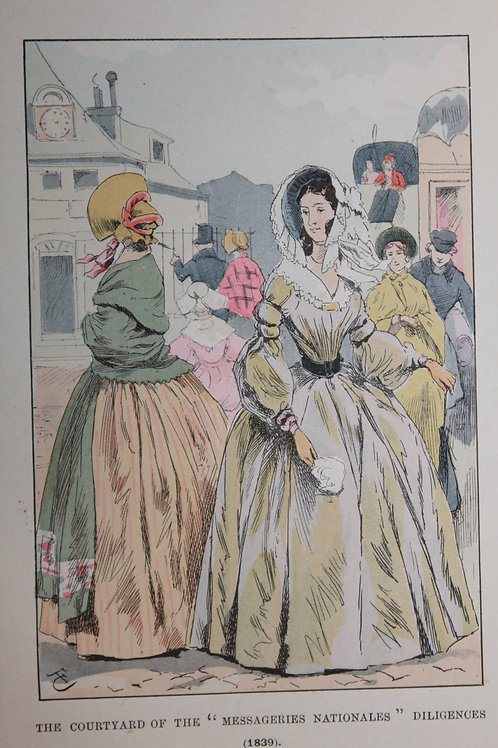 Gravure de mode coloriée. François Courboin (1901). Fashion in Paris