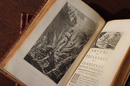 Héliodore. Amours de Théagènes et Chariclée (1743). Maroquin rouge de l'époque