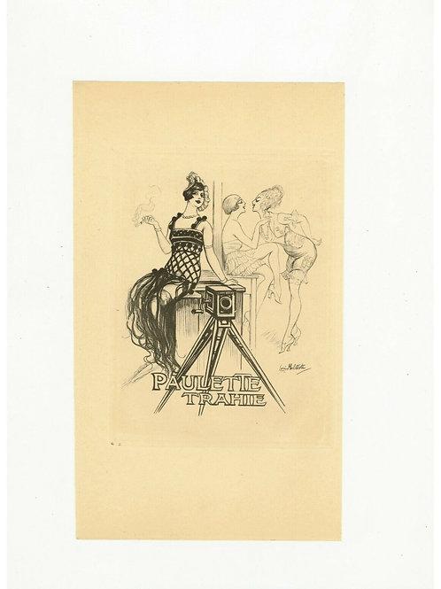 1930 Louis Malteste illustration héliogravure mode