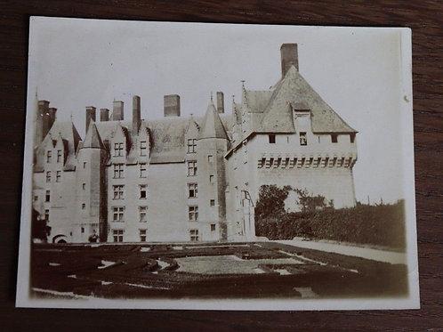 Photographie originale d'époque ancienne vers 1900  Sujet :  château de la Loire