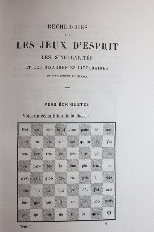 1867 Canel Recherches sur les jeux d'esprit et bizarreries littéraires