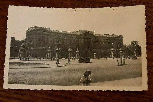 Photo ancienne 1949 Buckingham Palace Angleterre Photo vintage