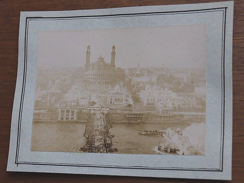Paris 1900 Photographie ancienne Exposition Universelle Palais du Trocadéro