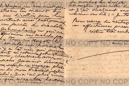 Lettre autographe d'Octave Uzanne à son ami Georges Maurevert (7 avril 1931)