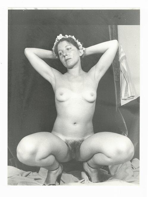 Photographie Amateur Vintage Nu féminin vers 1965. Ref. 956