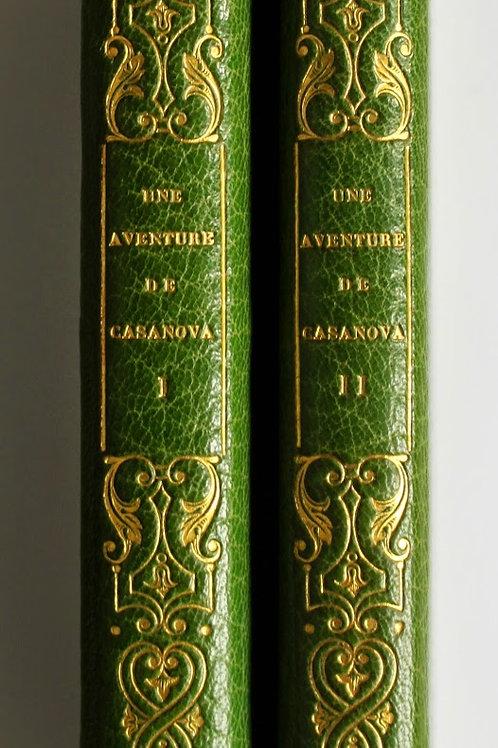 Une aventure de Casanova (1926) illustrée par Sylvain Sauvage. Maroquin décoré