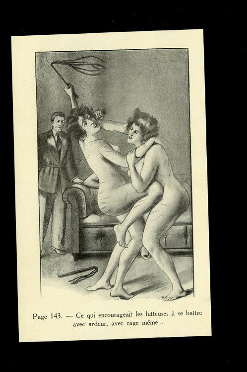 Gravure 1930 BDSM fessée curiosa spanking bondage domination