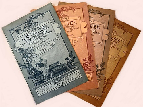 1892 Octave Uzanne Adolphe Giraldon Série complète 12 couvertures L'Art L'Idée
