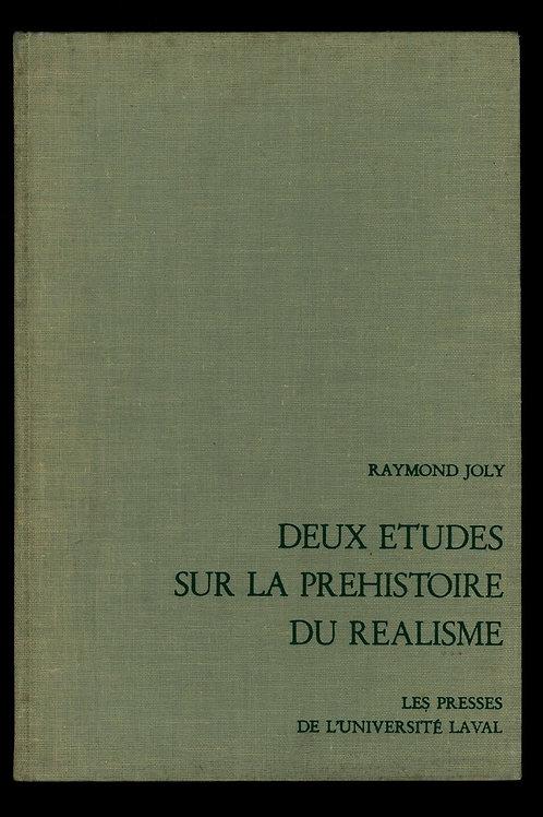 1969 Raymond Joly Rétif de la Bretonne Diderot Deux études préhistoire réalisme