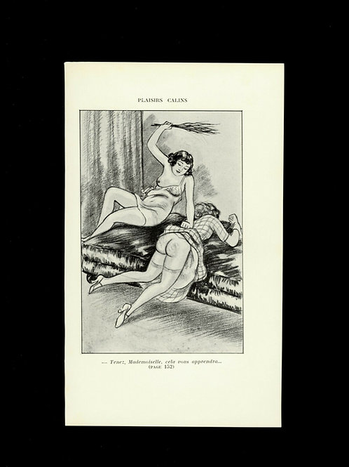 Gravure 1930 BDSM fessée