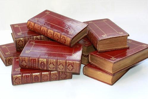 L'Année Chrétienne du Père Letourneux (1685-1694). 11 volumes maroquin d'époque
