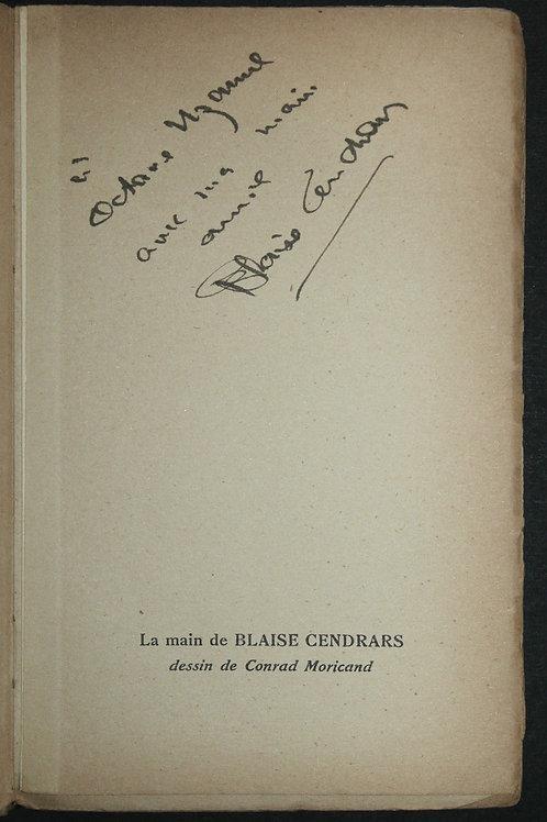 Blaise Cendrars. Aujourd'hui (1931). Envoi autographe à Octave Uzanne
