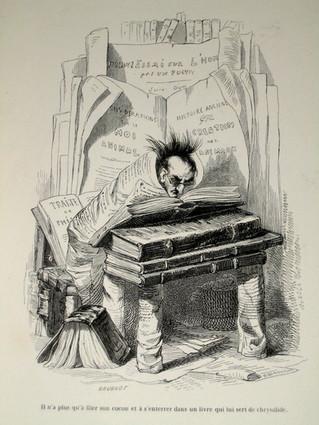 La bibliomanie : pathologie expliquée par le bon docteur Descuret en 1841. Le cas du notaire Boulard