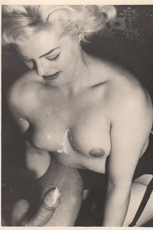 Photographie originale érotique (vers 1965). Marilyn like