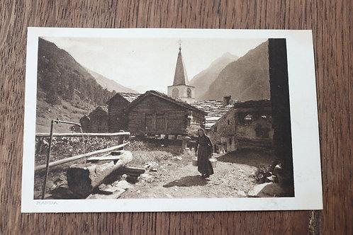 CPA La vallée de Zermatt et le Cervin Suisse Chalet paysanne