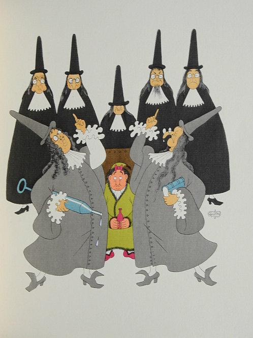 1954  Le Malade imaginaire Molière illustré par Dubout 1/500 vergé avec suite