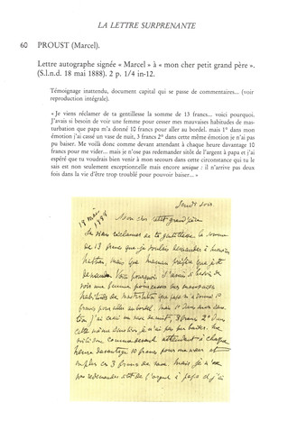 Anecdotiana du Bibliomane moderne : Une lettre surprenante du jeune Marcel Proust (18 mai 1888). &qu