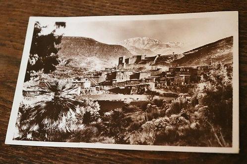 CPA Photo ancienne 1935 Maroc Afrique Atlas Casbah d'Asni