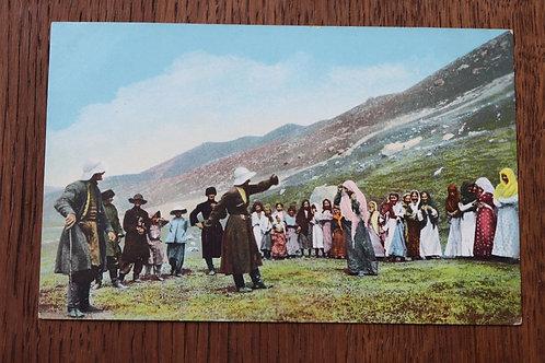 CPA Danse nationale des Ossètes Femmes Le Caucase Russie